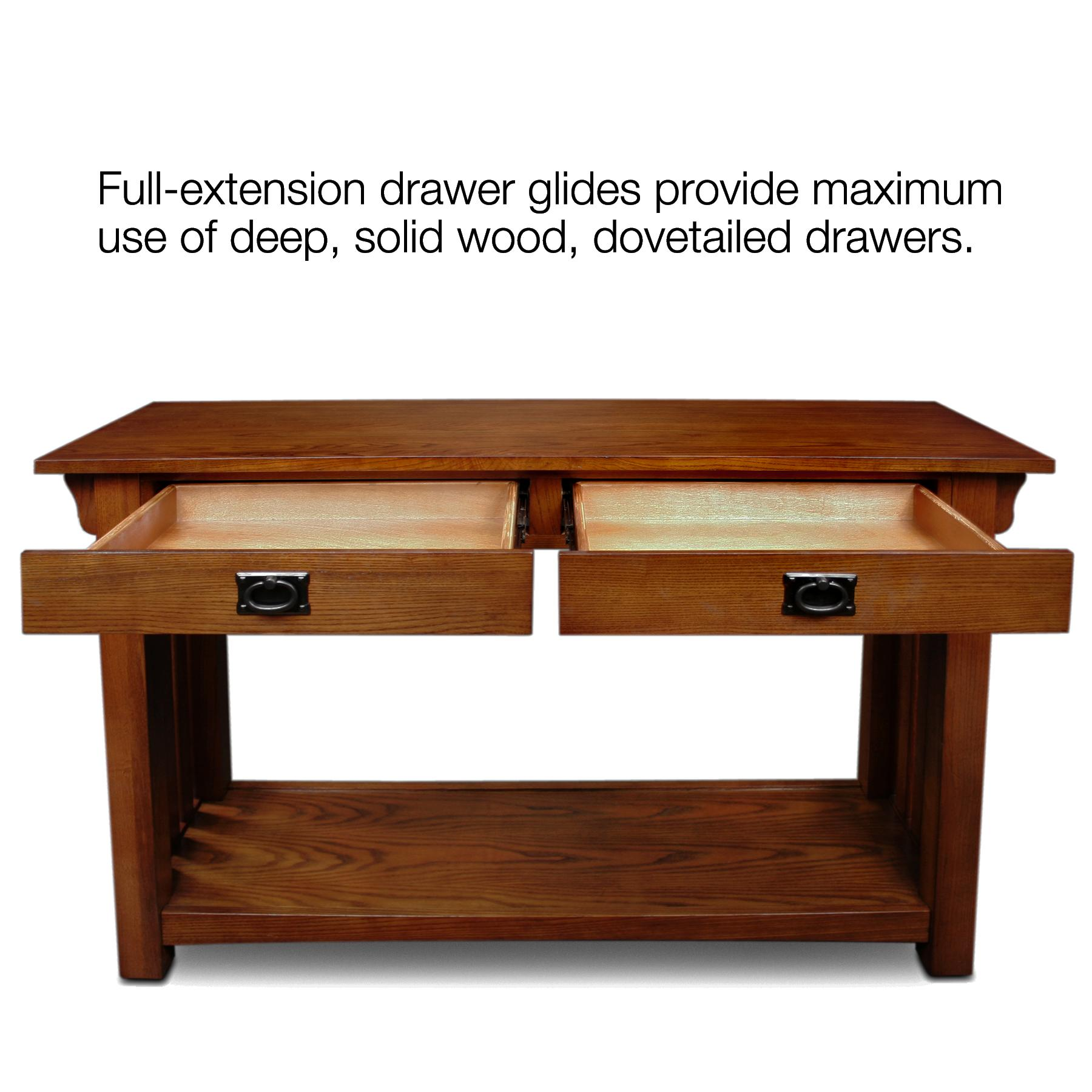 Amazon Leick Furniture Mission Sofa Table Medium Oak