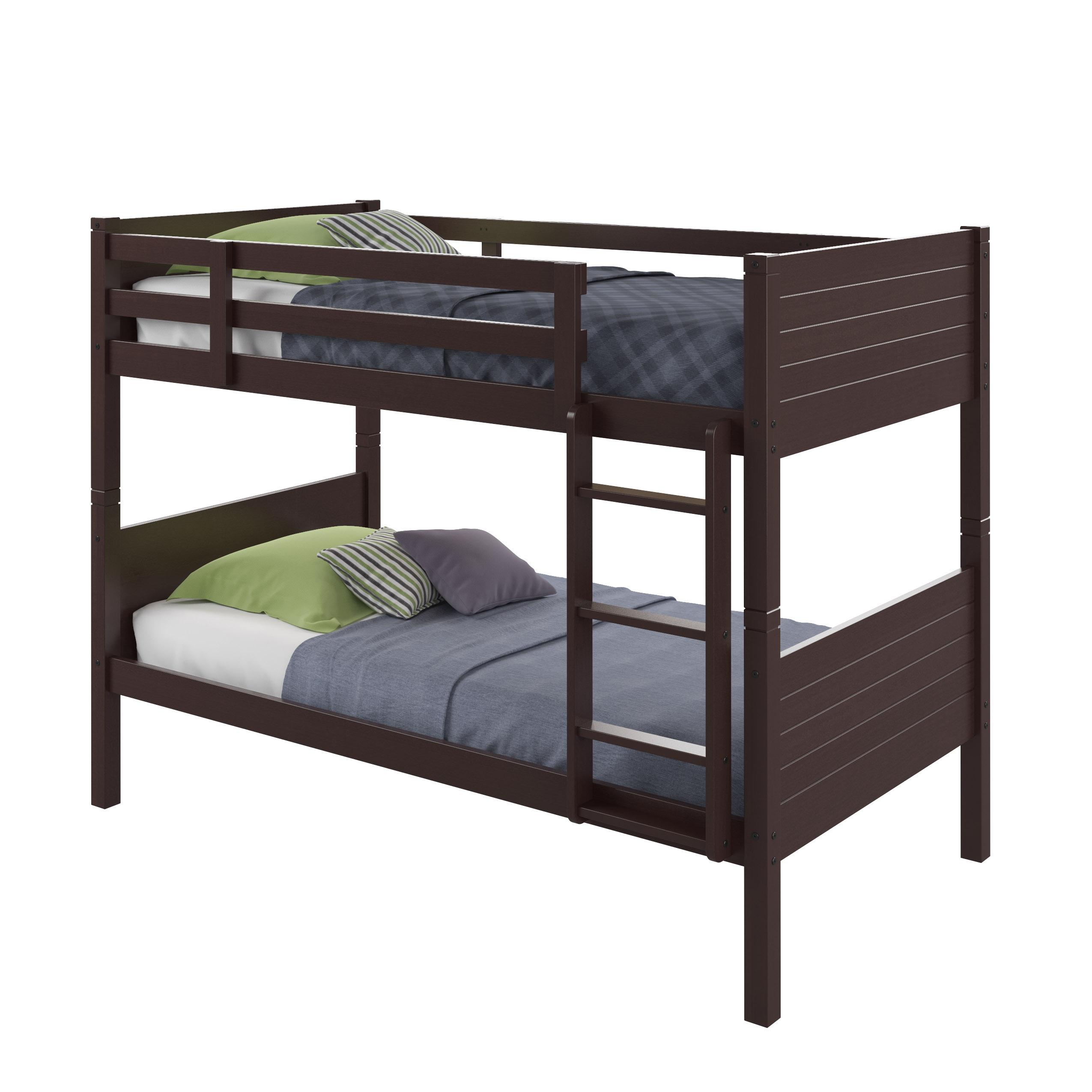 Corliving baf 390 b ashland bunk bed twin for Single bunk bed