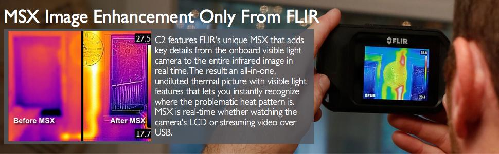 Amazon Com Flir C2 Compact Thermal Imaging System Home