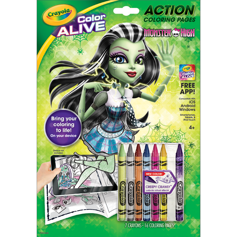 amazon com crayola color alive monster high toys games