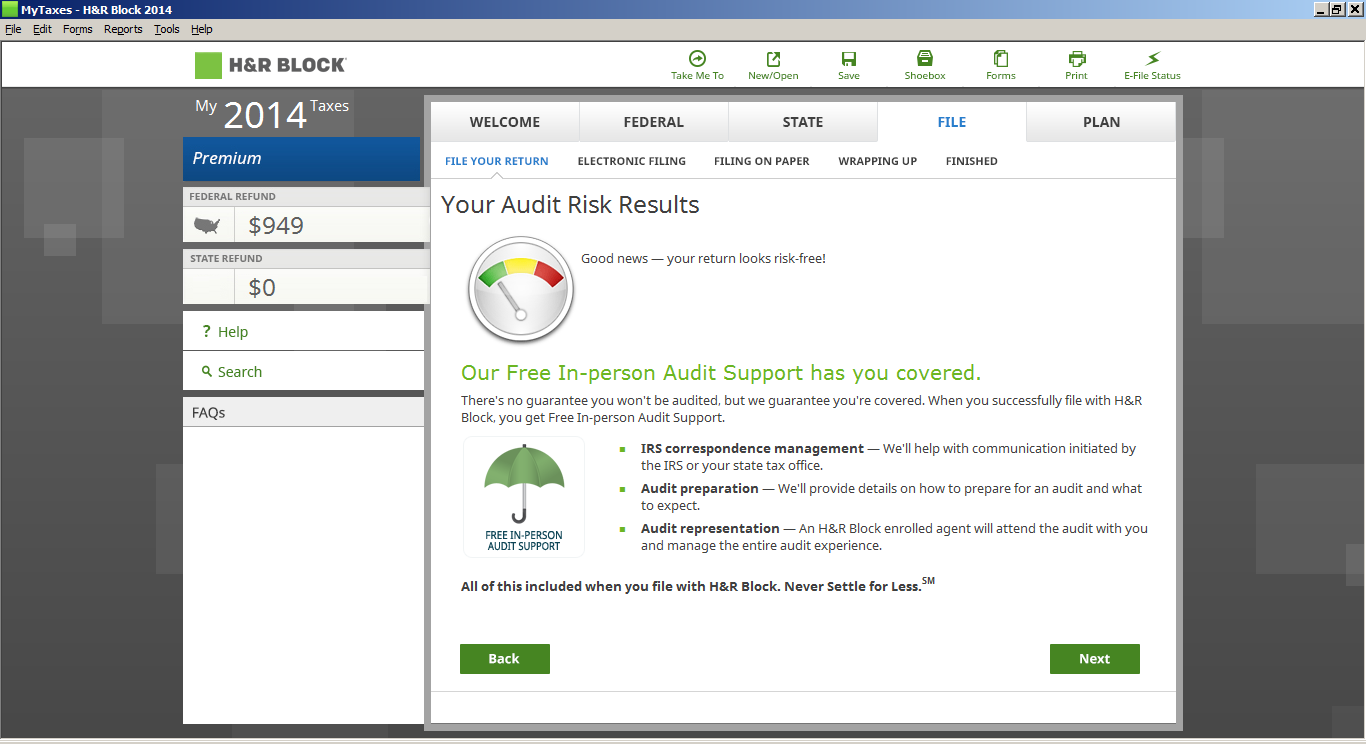 h&r block tax software instructions
