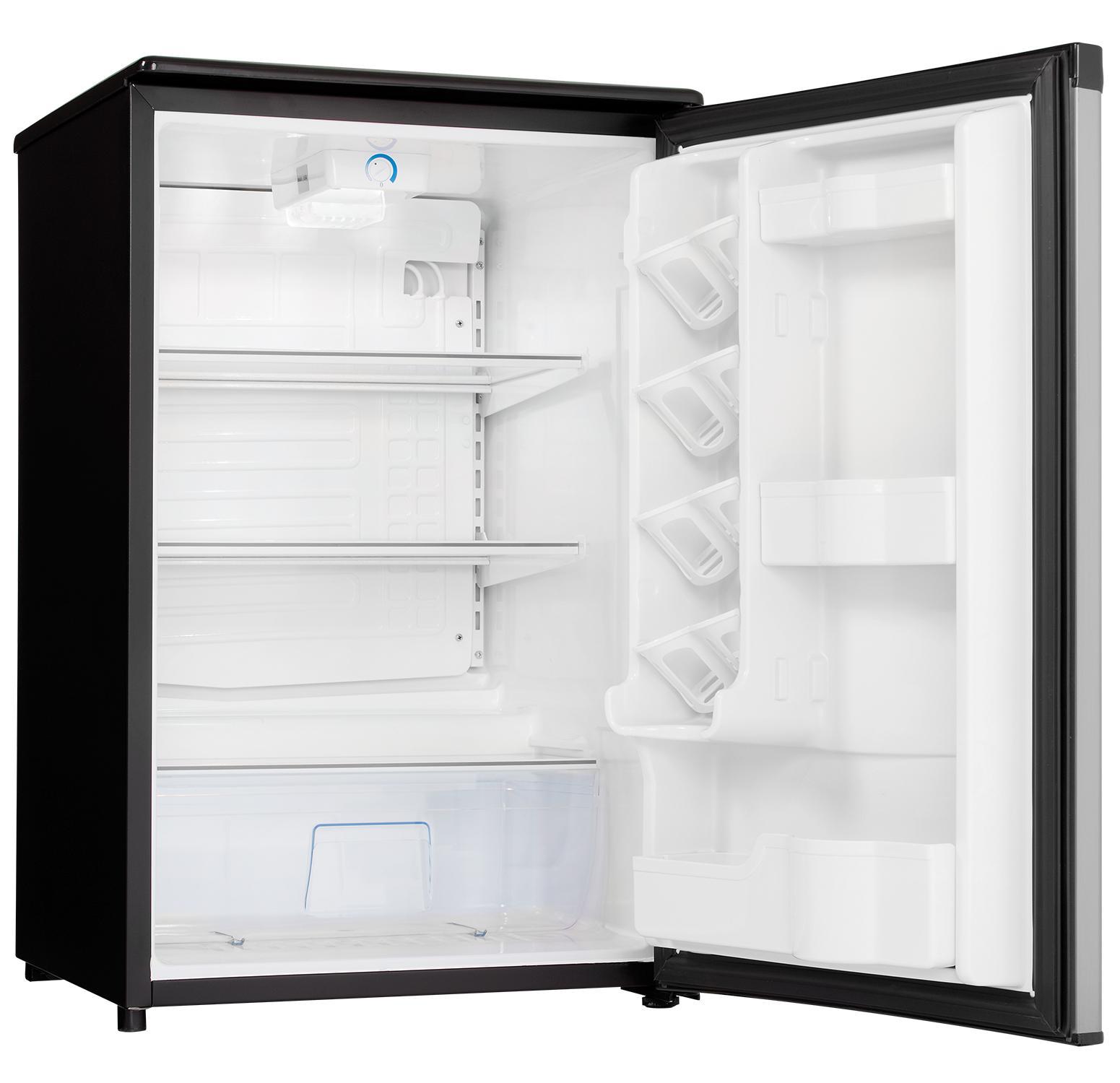 danby dar044a5bsldd compact all refrigerator spotless steel door 4 4 cubic feet. Black Bedroom Furniture Sets. Home Design Ideas
