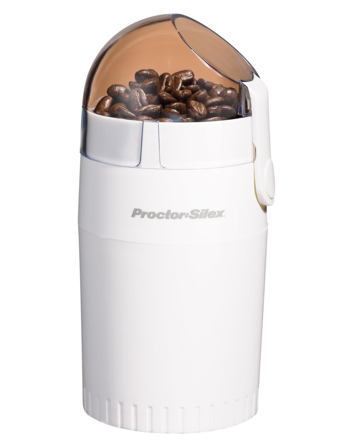 Amazon.com: Proctor Silex E160BY Fresh Grind Coffee Grinder, White: Power Blade Coffee Grinders ...