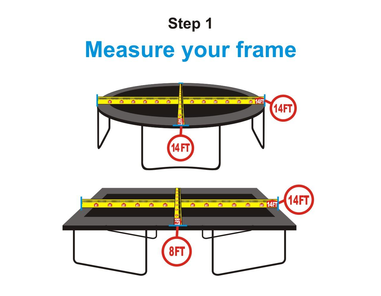 Trampoline Jumping Mat For 10 Round Frames With 56 V