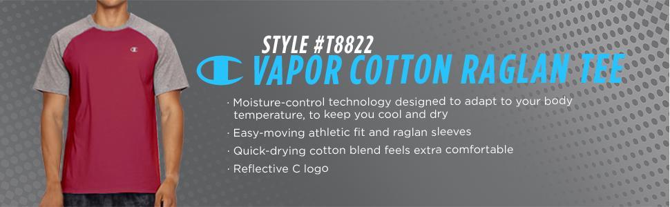 Amazon.com: Champion vapor algodón playera de manga corta ...