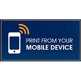 Versatile wireless options for printing from your compatible mobile device. (footnote 5)