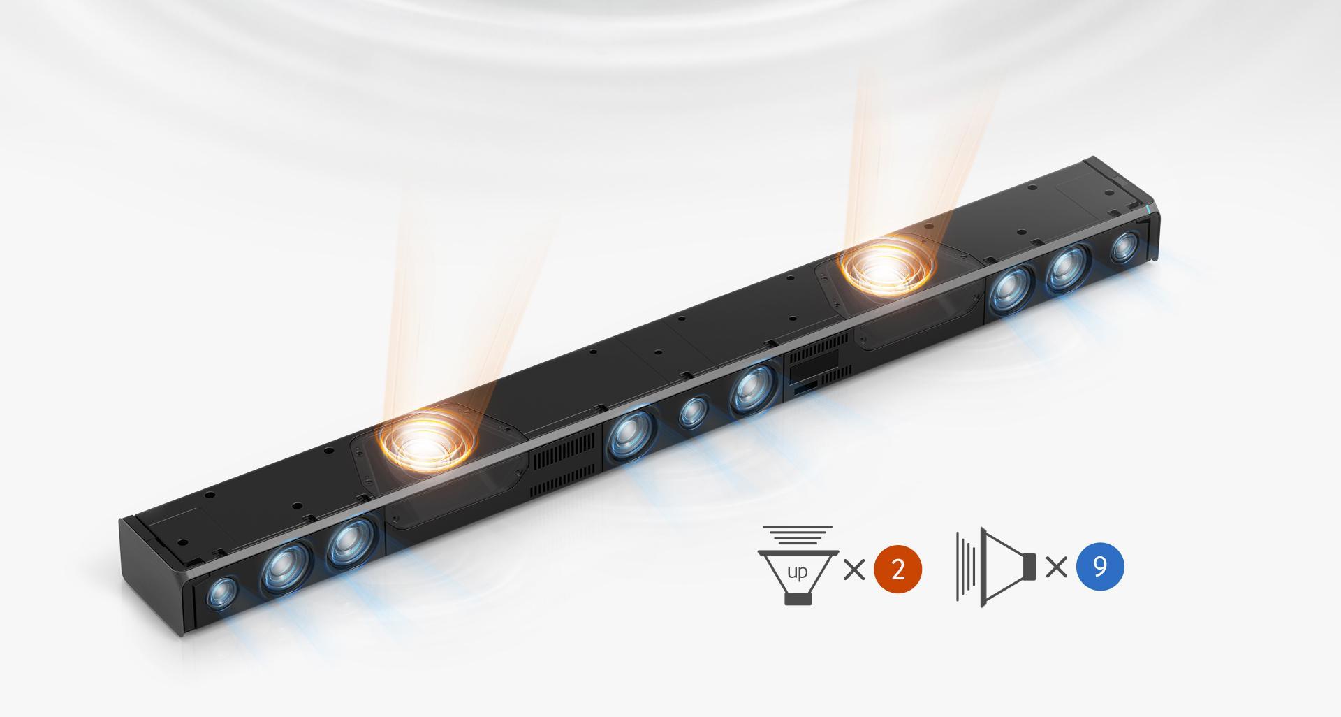 samsung hw k850 za 3 1 2 channel soundbar with dolby atmos technology 2016 model. Black Bedroom Furniture Sets. Home Design Ideas