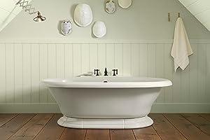 KOHLER K Vintage Bath White Freestanding Bathtubs - Kohler cast iron freestanding tub
