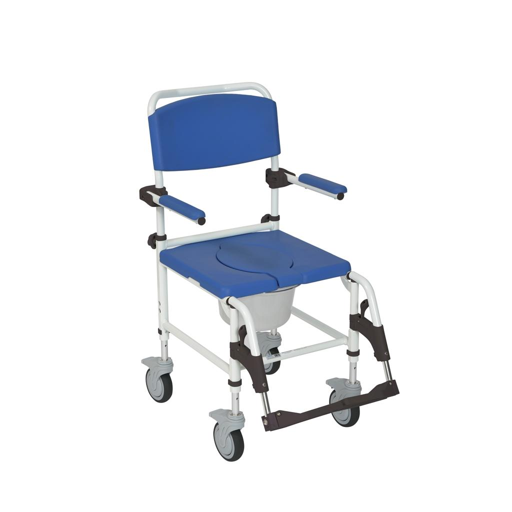 Amazon.com: Drive Medical Aluminum Shower Commode Mobile Chair, Blue ...