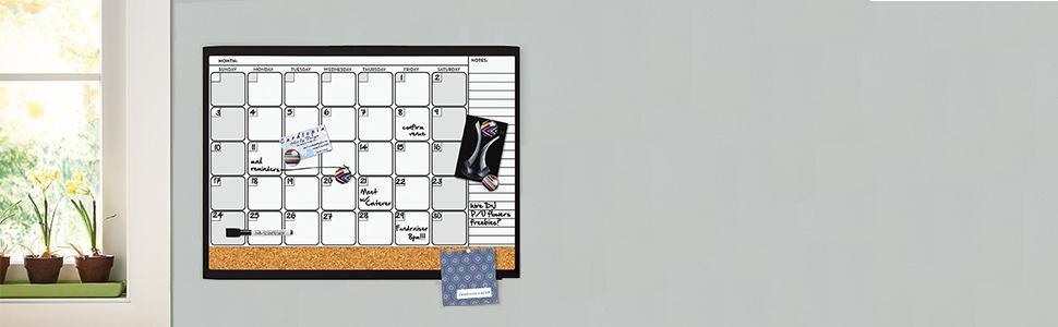 quartet magnetic combo dry erase marker u0026 cork calendar board value pack