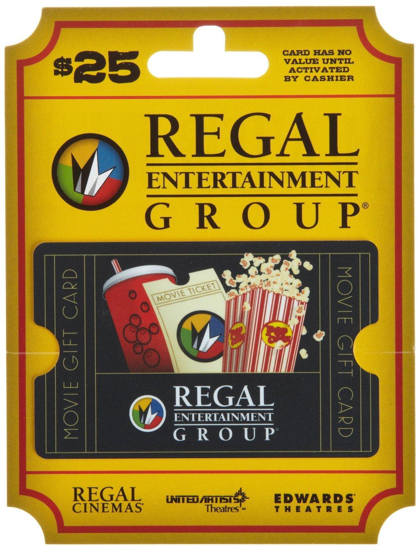 Amazon.com: Movie & A Meal, Brinker-Regal Entertainment (2 - $25 ...
