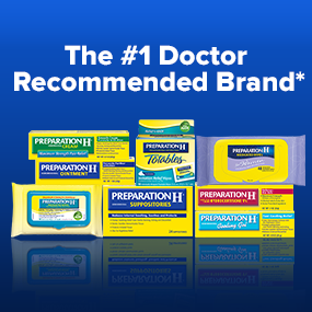 prep h, preparation h, preph, doctor recommended, hemorrhoid symptoms, hemorrhoid relief