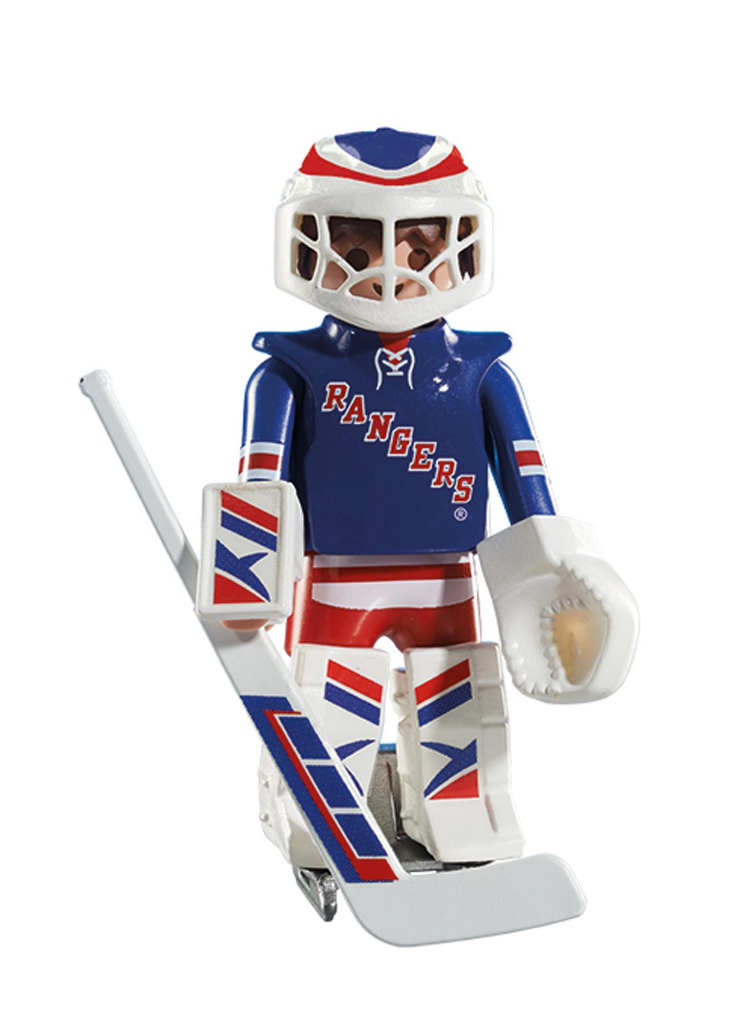 Amazon Com Playmobil Nhl New York Rangers Goalie Toys Games