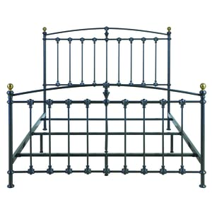 bello b552qdp metal bed frame queen dark graphite