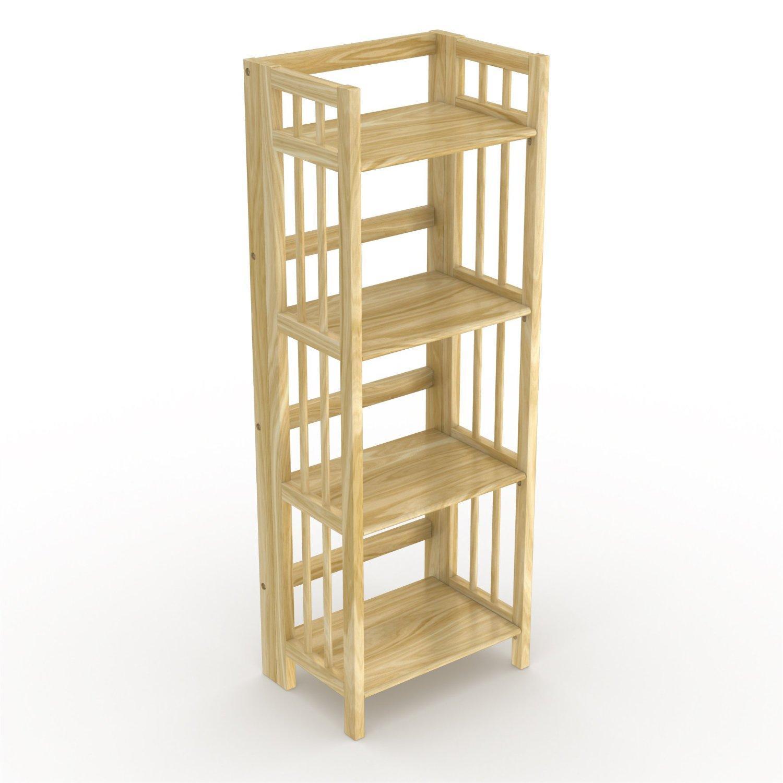 Timber Bookcase: Amazon.com: Stony-Edge FBC-16-NA No Assembly Folding