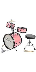 pink junior drum set small