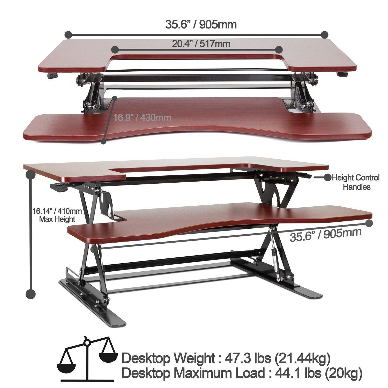 Amazon.com: Halter ED-258 Preassembled Height Adjustable ...