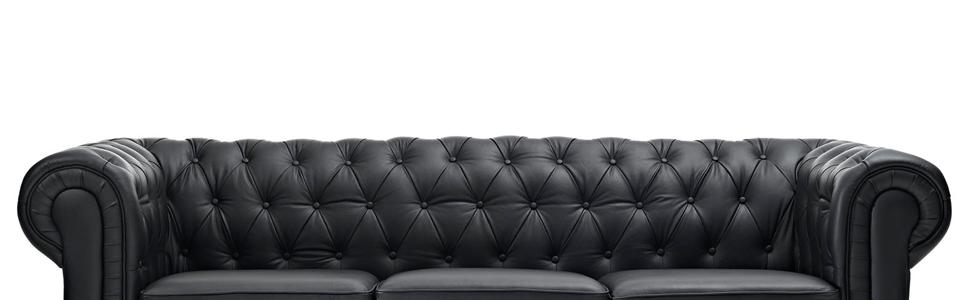 Modway Chesterfield Fabric Sofa in Black