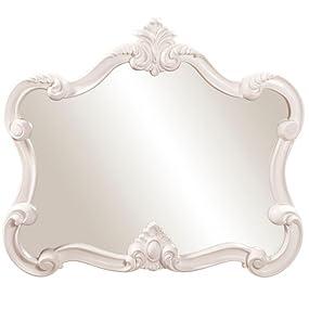 Howard Elliott Veruca Mirror in Glossy White Lacquer Finish