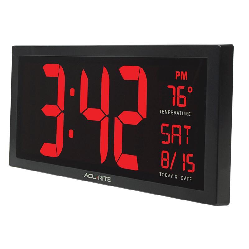 Big Digital Wall Clock Large Led Display School Office: digital led wall clock