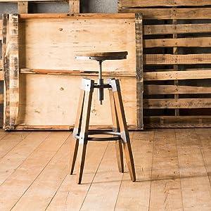 Astonishing Moes Home Collection Quad Pod Adjustable Bar Stool Natural Evergreenethics Interior Chair Design Evergreenethicsorg
