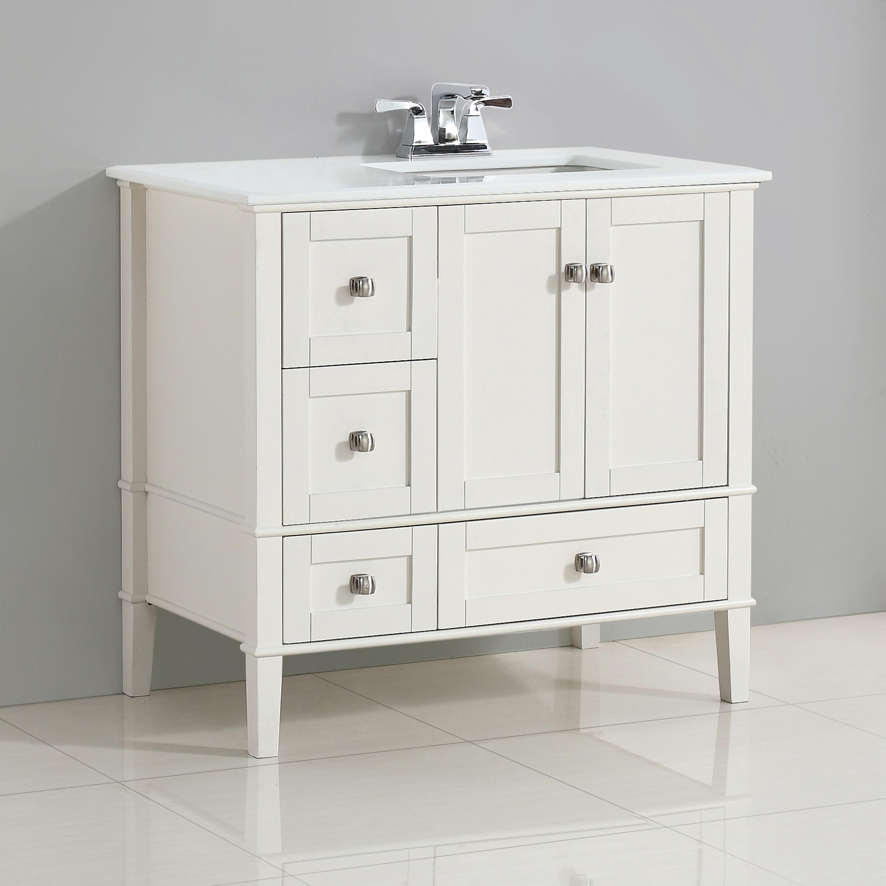 Vanity With Offset Sink : Simpli Home Chelsea 36