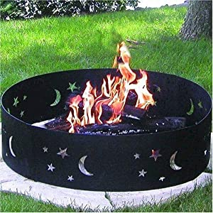 CobraCo, Campfire, Ring, Portable, Contains Fires, Artistic, Steel Metal,