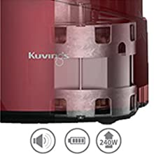 Kuvings Bpa Free Whole Slow Juicer Silver B6000s : Amazon.com: Kuvings BPA-Free Whole Slow Juicer Silver B6000S with Sortbet Maker, Cleaning Tool ...