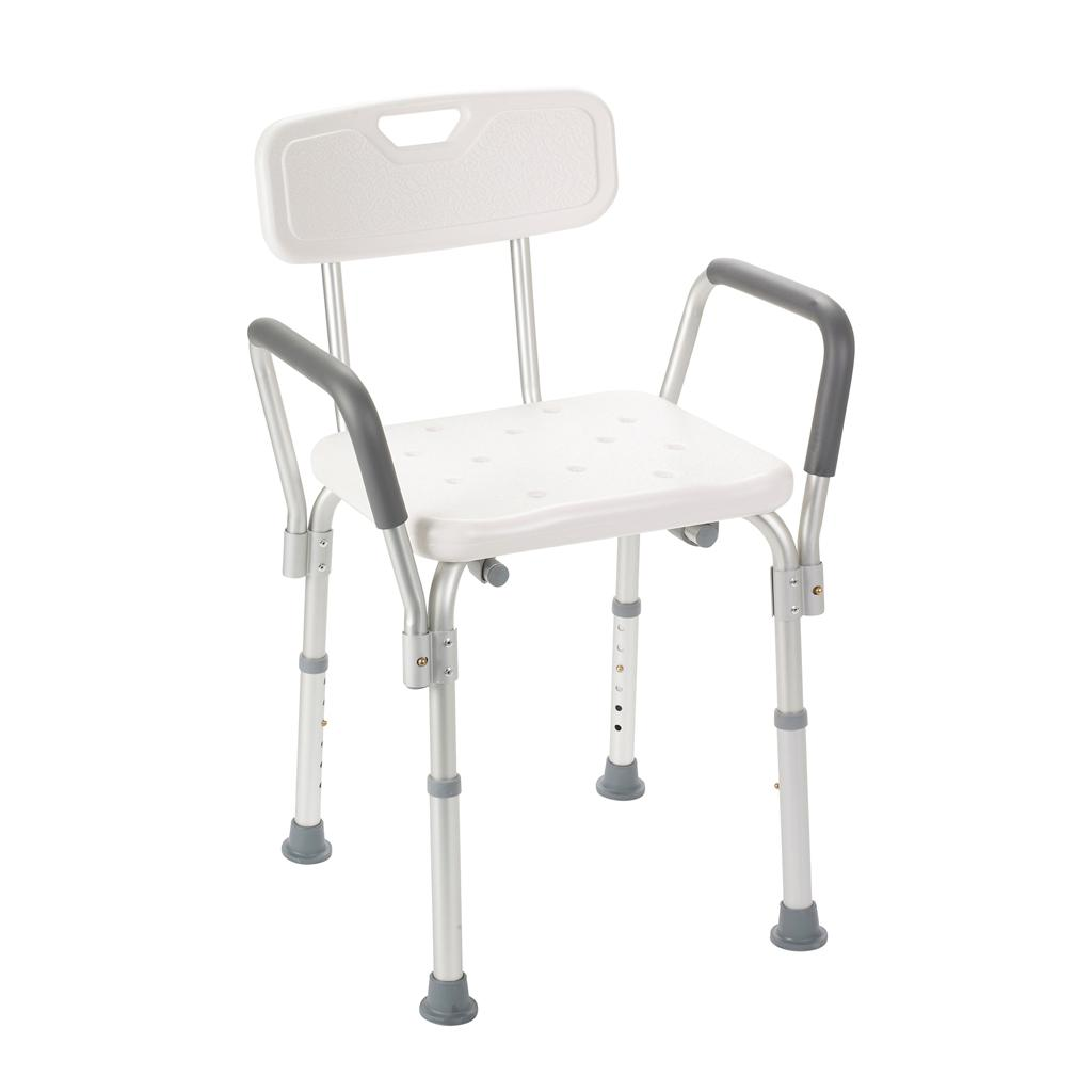 Amazon.com: Drive Medical 12445-1 Bath Bench with Padded Arms, White ...