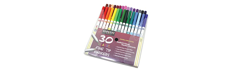 marker,classic,color,draw,fun,set,art,artist,assortment,class,project,tip,fine,pack,sargent