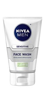 face wash, sensitive, NIVEA MEN