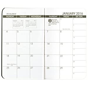 amazon com at a glance monthly planner 2016 2017 pocket size 24