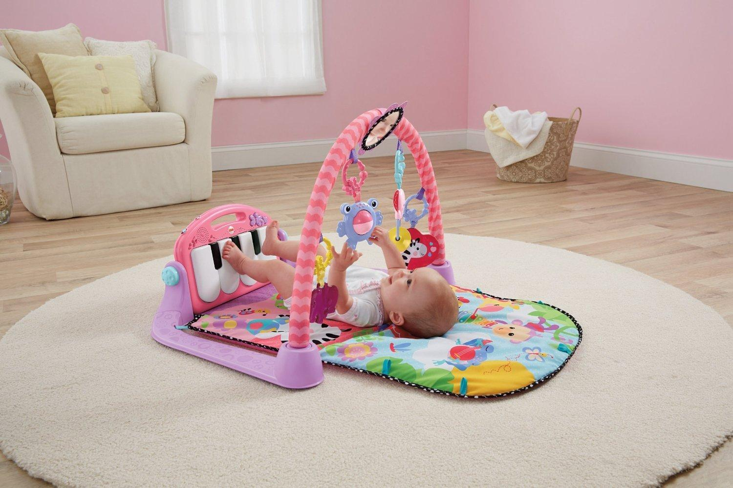 Amazon Com Fisher Price Kick Amp Play Piano Gym Pink