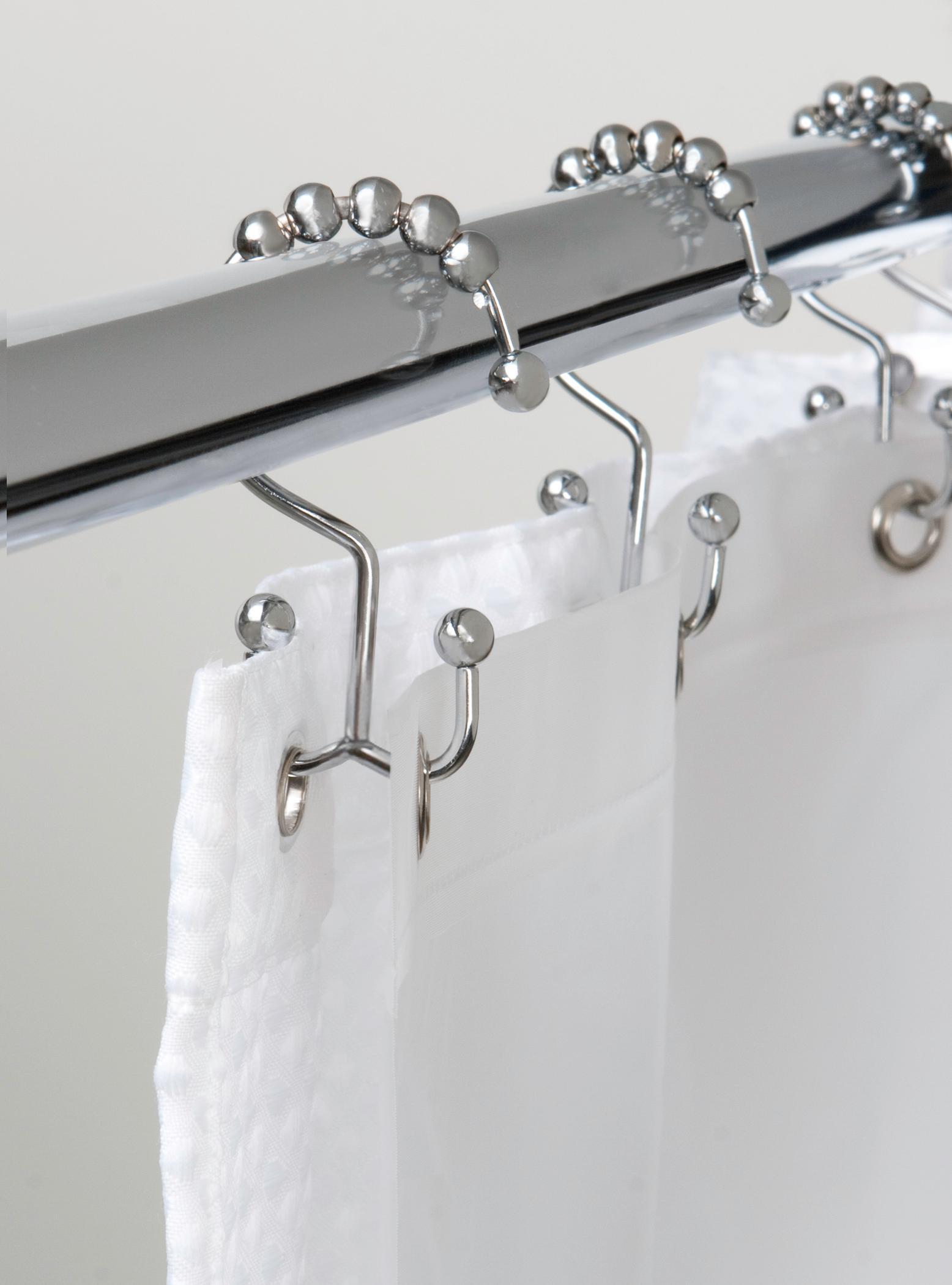 Bathroom Shower Hooks Shower Curtain Rings Rust Resistant