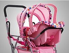 Amazon.com: Joovy Toy Doll Caboose Tandem Stroller - Pink ...