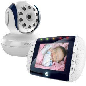 """Motorola MBP33 Wireless Video Baby Monitor with Infrared Night Vision and Zoom 2.8"""" Color LCD"""