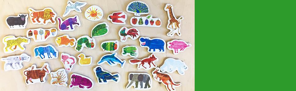 magnets, eric carle, holiday gift, gift for toddler, very hungry caterpillar