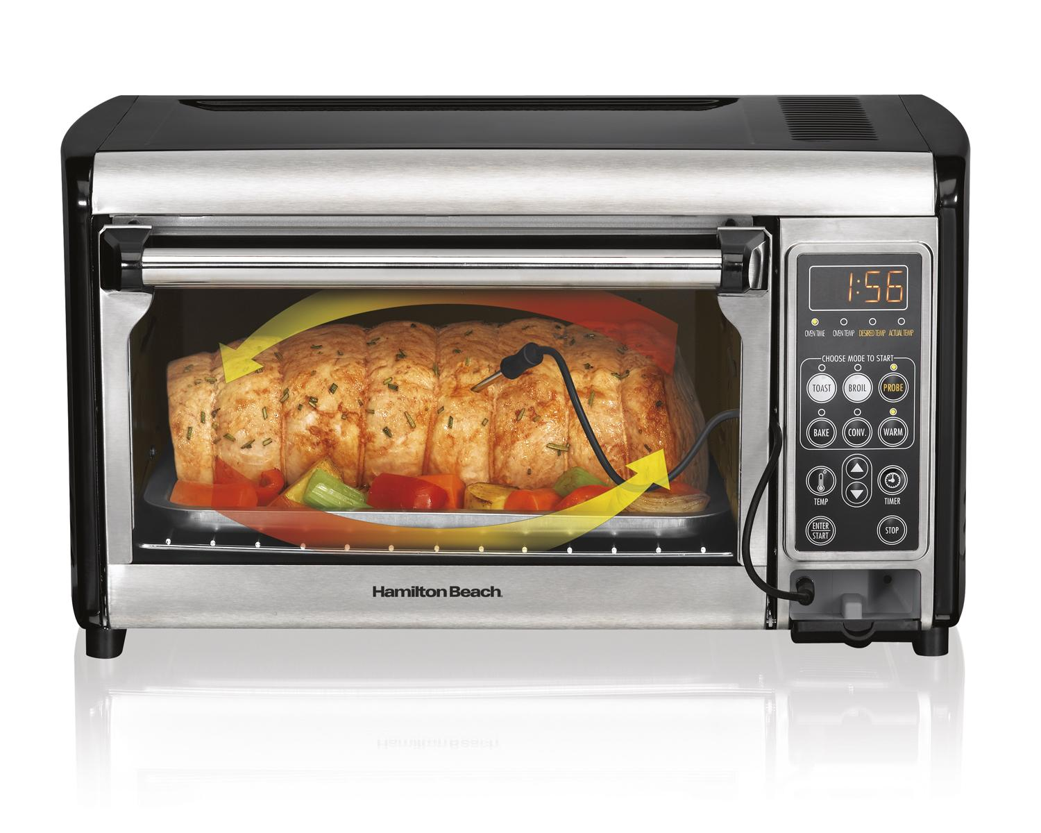 Amazon Com Hamilton Beach 31230 Set Amp Forget Toaster Oven