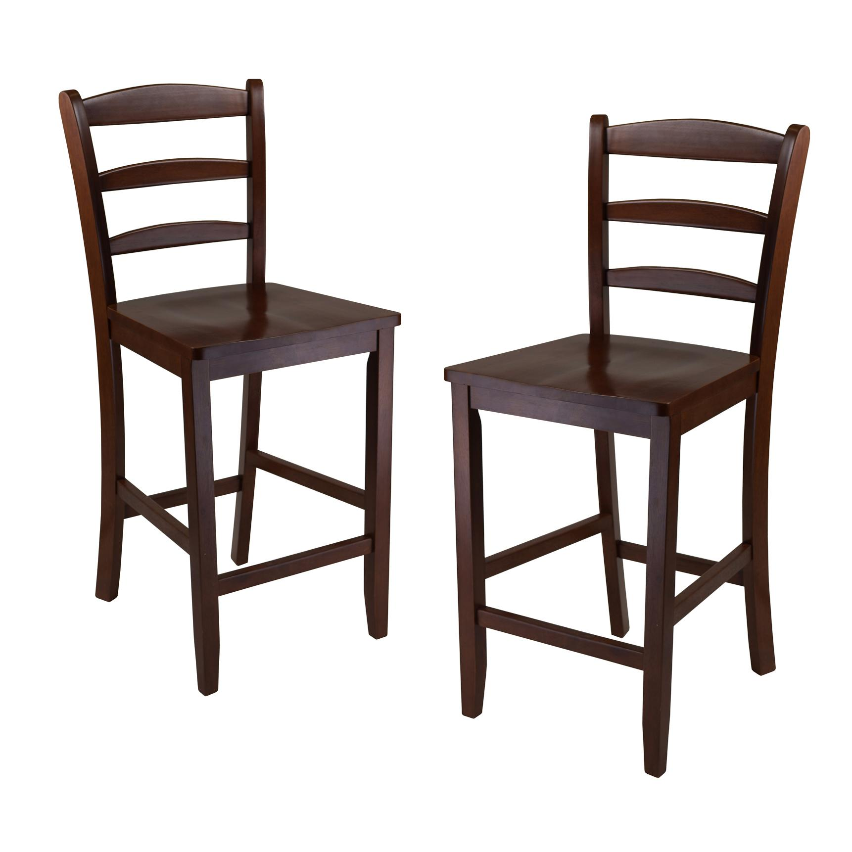 Amazon Winsome 24 Inch Counter Ladder Back Stool Set of 2