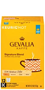k-cup coffee keurig gevalia kcups flavored pods compatible brewer packs