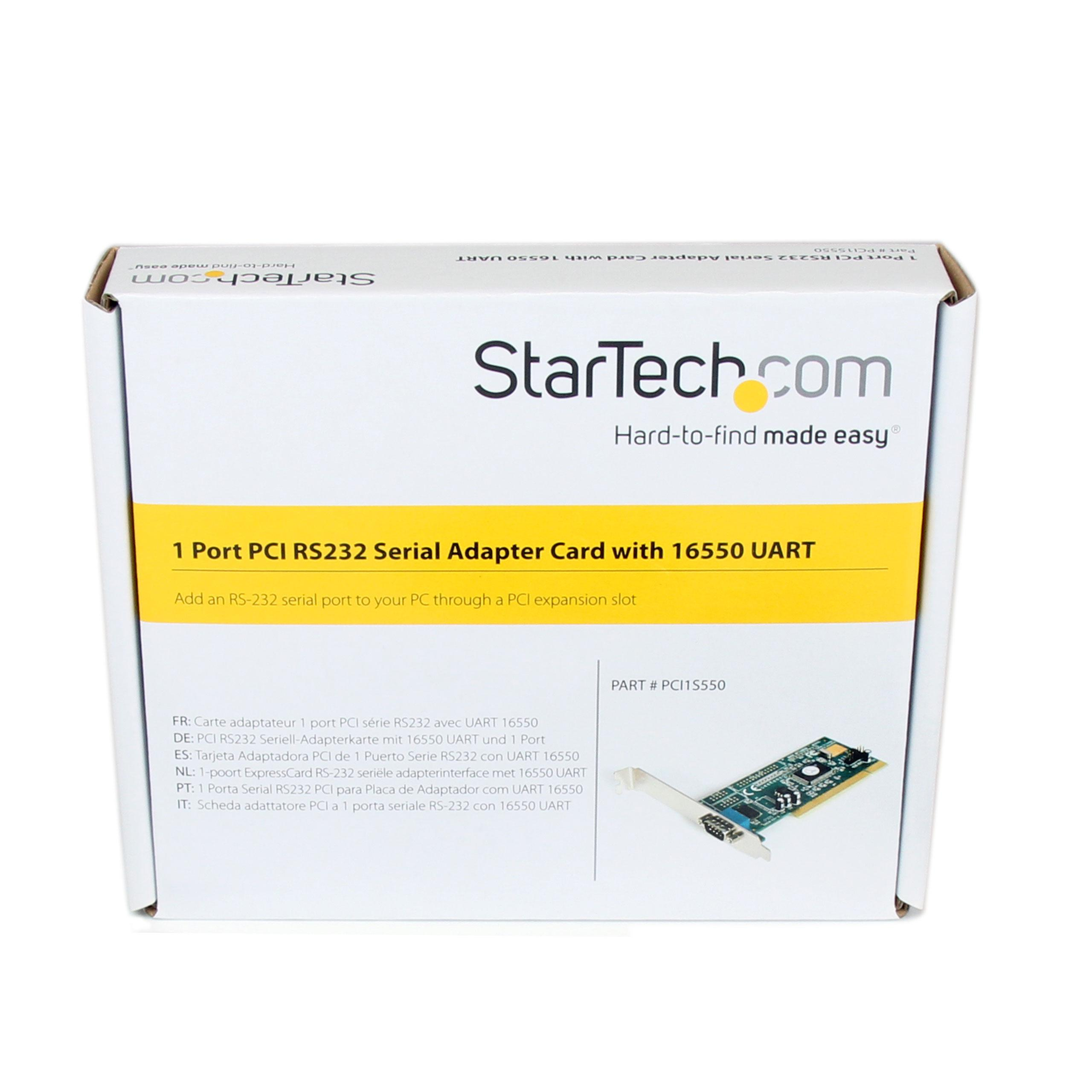 1 Port PCI RS232 Serial Adapter Card with 16550 UART - PCI Serial Adapter - PCI rs232 - PCI Serial Card