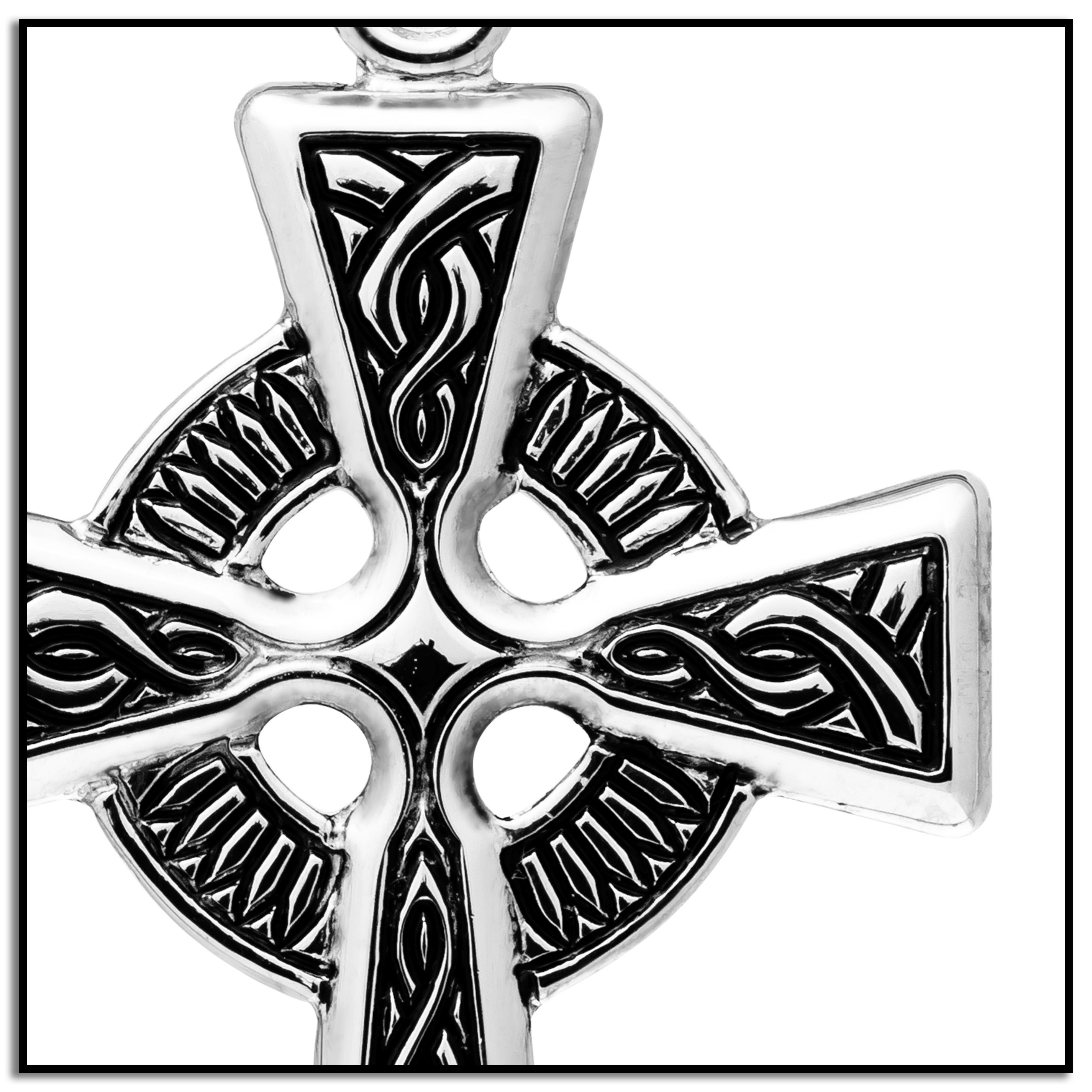 Amazon sterling silver celtic cross pendant necklace 18 view larger biocorpaavc