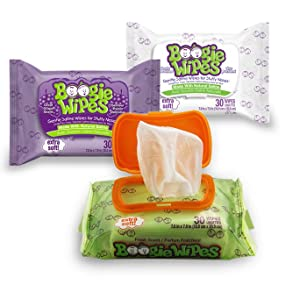 Boogie wipes fresh unscented grape nose wipes congestion baby infant toddler allergy relief saline