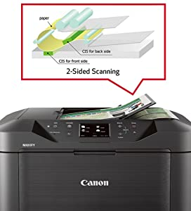 Amazon Com Canon Maxify Mb5320 Wireless Office All In One Inkjet Printer With Mobile And Tablet Printing And Airprint And Google Cloud Print Compatible Black Electronics
