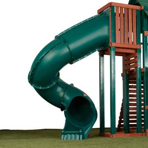 tube slide, twist, play set, playset, swingset, swing set, kids, children, backyard