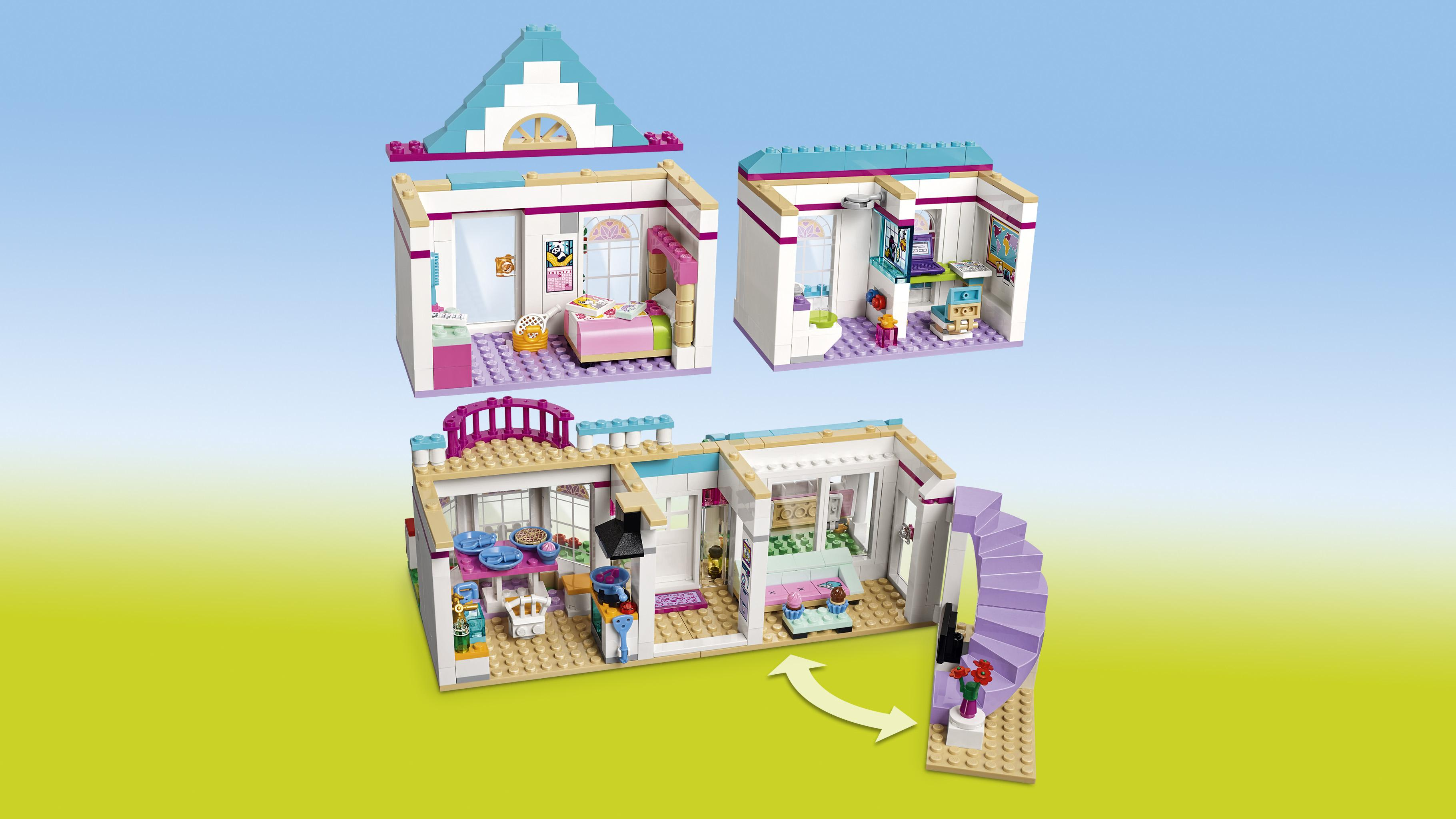 Lego friends stephanie 39 s house 41314 toy for 6 for Modele maison lego