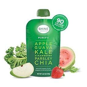 15a97fd36436 Amazon.com: SHINE Organics Superfood Purify Apple Guava Kale ...