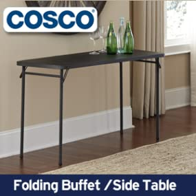 folding buffet side table