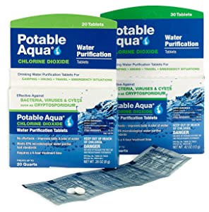 potable, aqua, water, treatment, emergency, camping