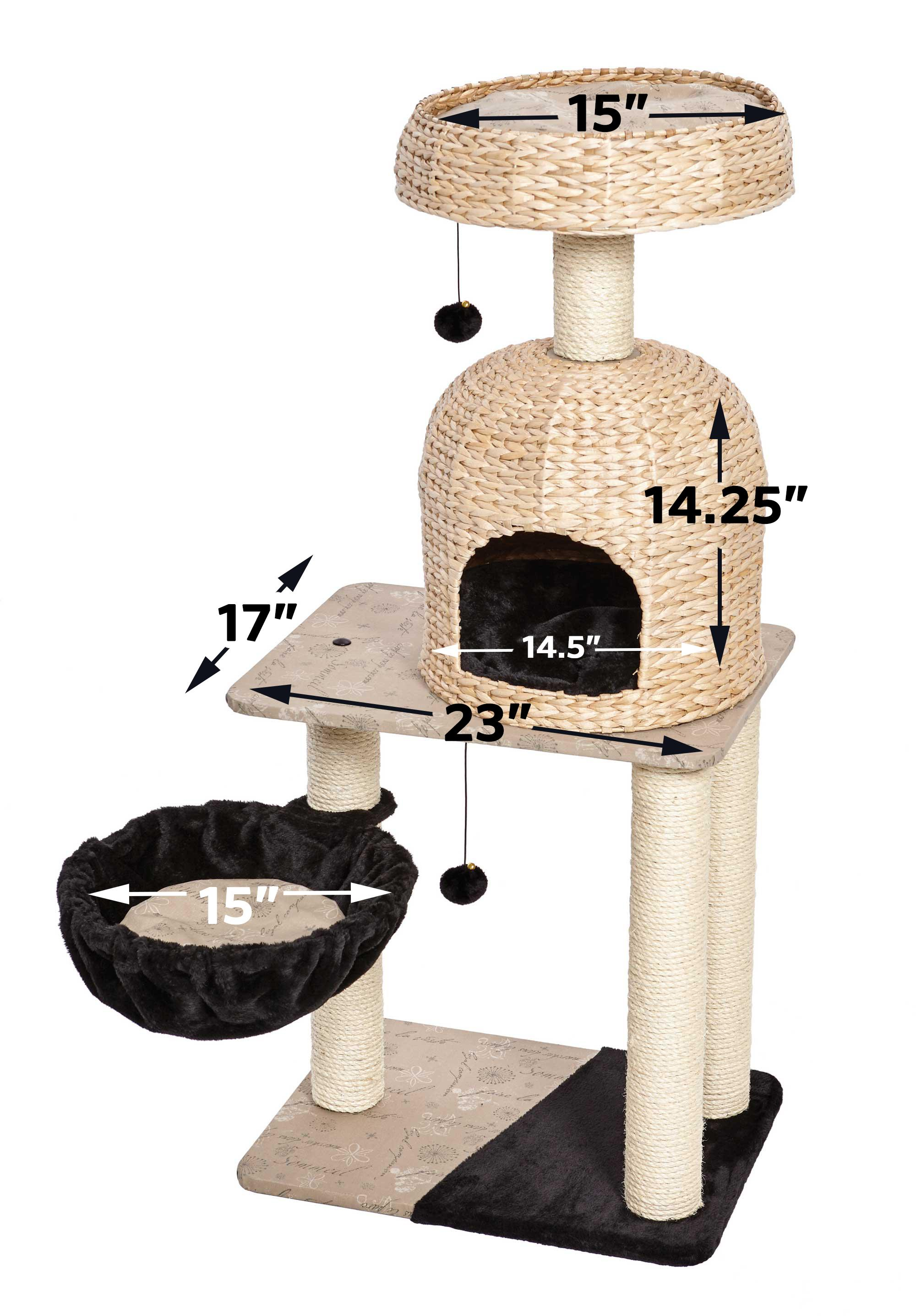 pdp cat tower kitty hammock wayfair tree ca pet power hendryx prevue paws sky with
